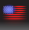 USA flag neon vector image