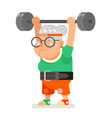 weightlifting fitness healthy activities granny vector image