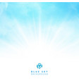 white cloud detail in blue sky with lighting vector image vector image