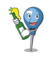 with beer clyster mascot cartoon style vector image vector image