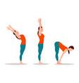 yoga collection woman set vector image vector image