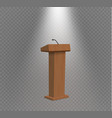 podium tribune rostrum stand with vector image