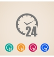 open 24 hours a day icons vector image