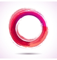 Pink and marsala fashion styled watercolor ring vector image