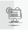 account profile report edit update line icon on vector image vector image