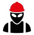Alien Builder Flat Icon vector image vector image