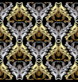 baroque gold silver seamless pattern vector image vector image