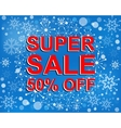 Big winter sale poster with SUPER SALE 30 PERCENT
