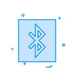 bluetooth icon design vector image