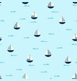 boat cute seamless pattern vector image vector image