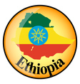 button Ethiopia vector image vector image