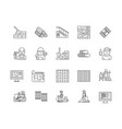 carpentry line icons signs set outline vector image vector image
