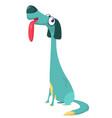 cartoon doberman pinscher dog vector image