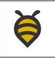 circle pin bee logo design animals vector image vector image