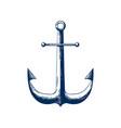 classic sea anchor nautical vector image