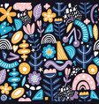 collage style seamless pattern with abstract and vector image vector image