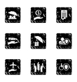 Confidence icons set grunge style vector image vector image