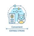 convenient advantage concept icon vector image vector image