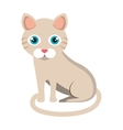 cute cat mascot isolated icon vector image