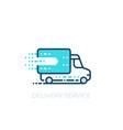 delivery service icon vector image vector image
