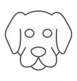dog thin line icon animal and zoo mammal sign vector image
