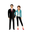 elegant fashionable happy couple vector image vector image