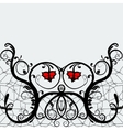 Elegant greeting card or invitation lace with red vector image vector image