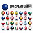 european union eu 3d circle balls line up vector image vector image