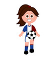 female soccer player with a soccer ball vector image