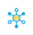 financial diversification diversified portfolio vector image vector image