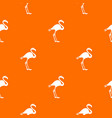 flamingo pattern seamless vector image