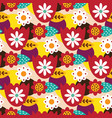 folk mexican seamless pattern vector image vector image