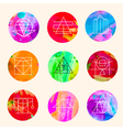 geometric circles vector image vector image