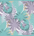 graphic seamless pattern exotic leaves in vector image vector image