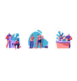 home household activities set family couple vector image