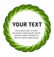 laurel wreath template vector image