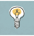 Light bulb idea symbol vector | Price: 1 Credit (USD $1)