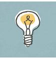 light bulb idea symbol vector image vector image