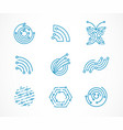 Logo set - technology tech icons and symbols