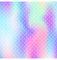 mermaid scales background with holographic vector image vector image