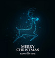 merry christmas card- christmas reindeer vector image vector image