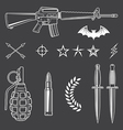 Military emblem elements set vector image