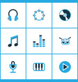 multimedia colored icons set collection of mixer vector image vector image