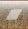 parallelogram gold halftone dot abstract vector image