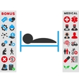 Patient Bed Icon vector image