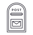 post box line icon sign on vector image vector image