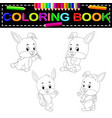 rabbit coloring book vector image vector image