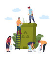 recycling concept people is engaged in recycling vector image