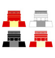 red house chichen itza ruins vector image vector image