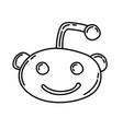 reddit icon doodle hand drawn or black outline vector image